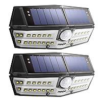 【Version Innovante】2 PACK 30 LED Mpow Lampe Solaire Etanche IPX6 Détecteur de Mouvement Panneau Solaire Amélioré 120° Grand Angle LED Eclairage Solaire Extérieur pour jardin, Garage, Cour, Maison, Escalier, Patio, Allée