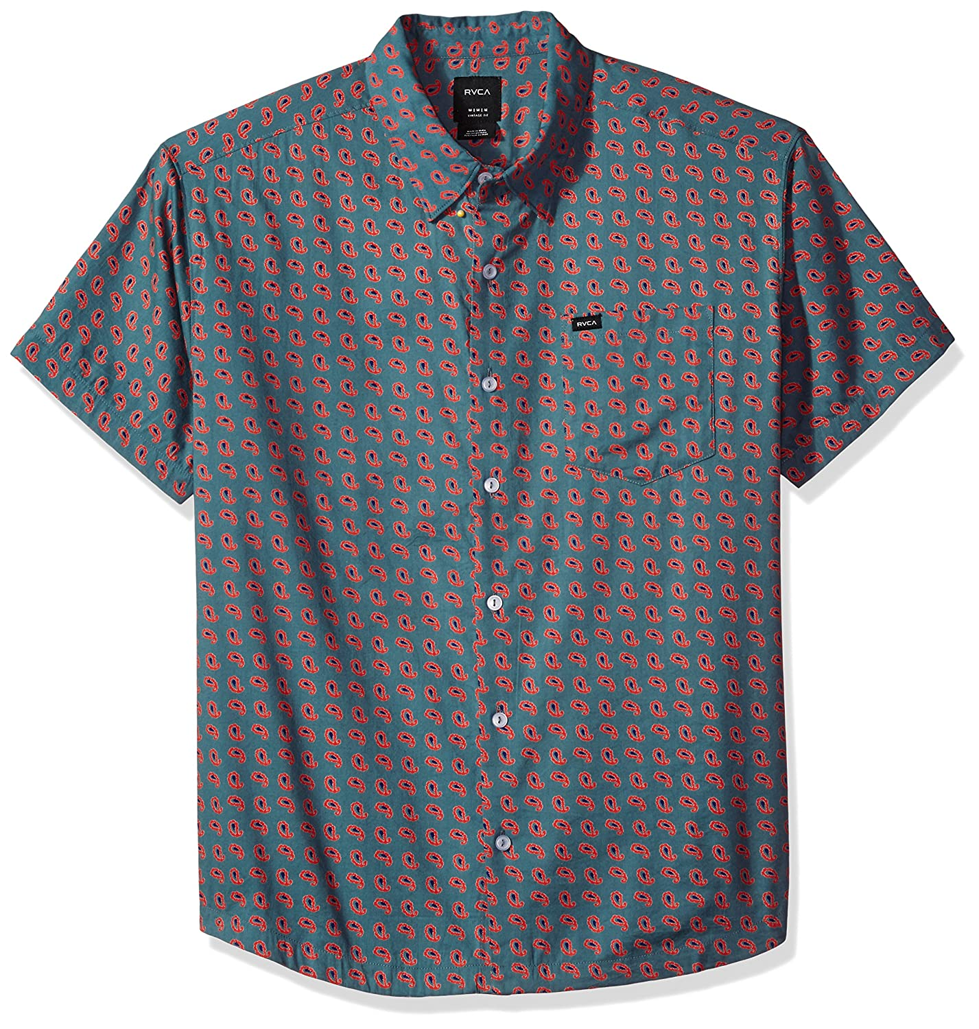 fe004a4d8bc Amazon.com  RVCA Men s Simon Short Sleeve Shirt  Clothing