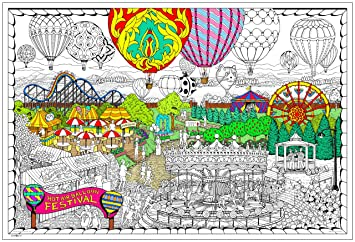 Balloon Festival- Giant Wall Size Coloring Poster - 32.5\
