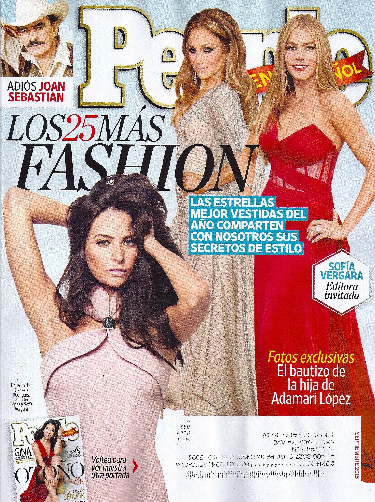 LOS 25 MAS FASHION l Genesis Rodriguez l Jennifer Lopez l Sofia Vergara l Gina Rodriguez l Joan Sebastian l Cristiano Ronaldo - Septiembre/September, ...