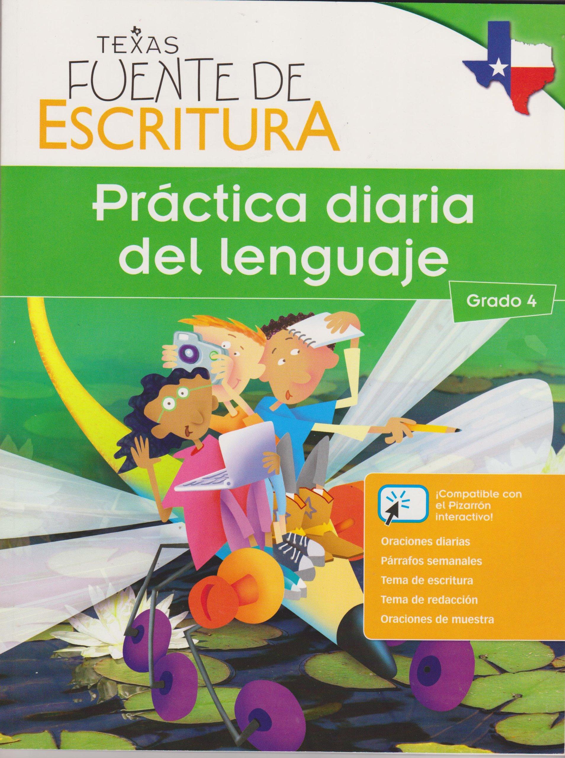 Texas Fuente De Escritura Practica Diaria Del Lenguaje Grade 4 ...