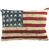 Evans Lichfield Stars and Stripes Tapestry Cushion, 18 x 13 Inch, Polyester Fibre Filled