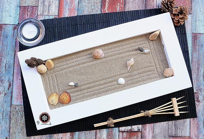 Ufficio Zen Zen : Giardino zen in miniatura o zen garden da tavolo in legno per