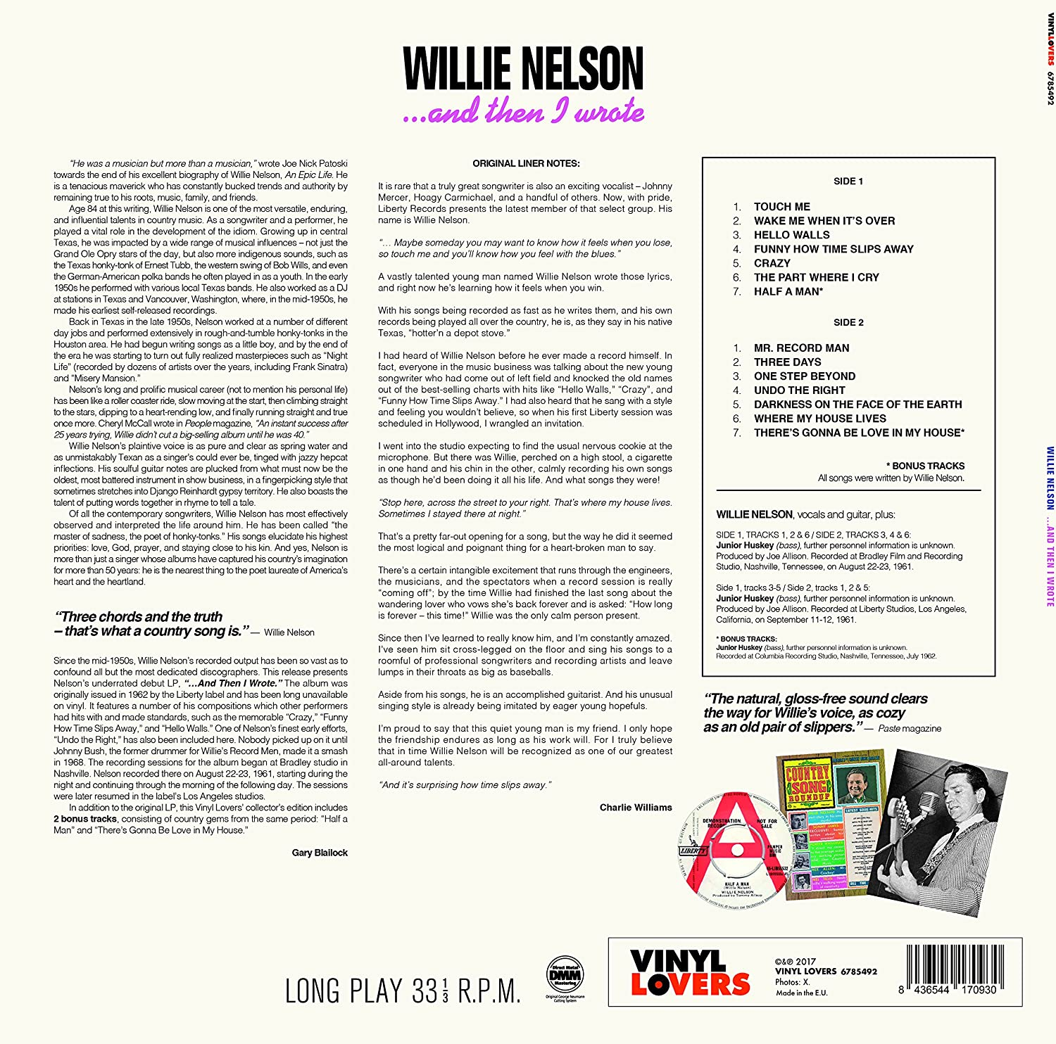WILLIE NELSON - & Then I Wrote - Amazon com Music
