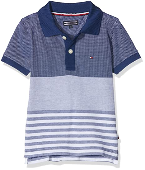 Tommy Hilfiger Structured Pique Polo S/s, Azul (Blue Depths 406 ...