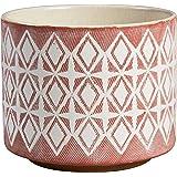 "Amazon Brand – Rivet Modern Geometric Ceramic Planter, 6.5""H, Rose"