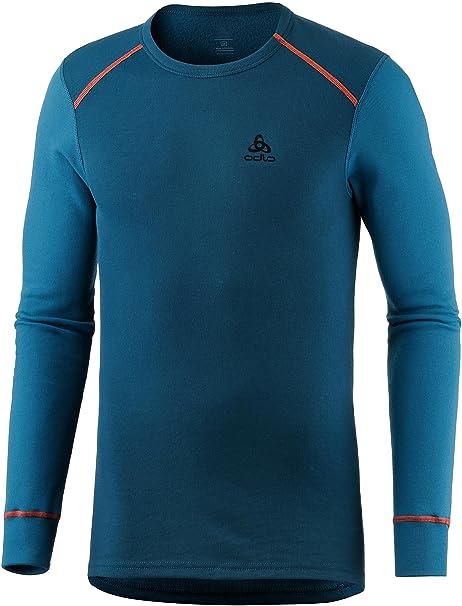 Odlo Damen Shirt L//S Crew Neck Seamless Warm Funktionsunterw/äsche