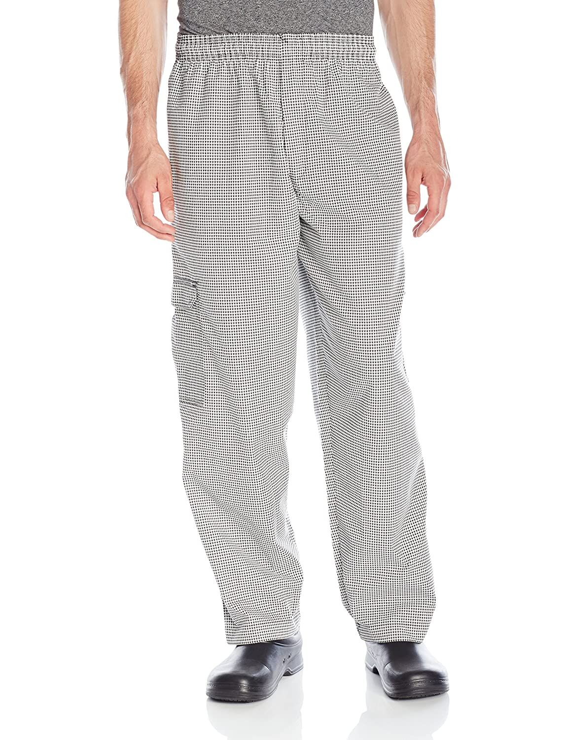 Chef Code Men's Black and White Check Cargo Pant Chef Code Uniforms CC202