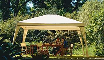 Coolaroo Isabella Steel Post Gazebo 10-Foot by 12-Foot Camel: Amazon.es: Jardín