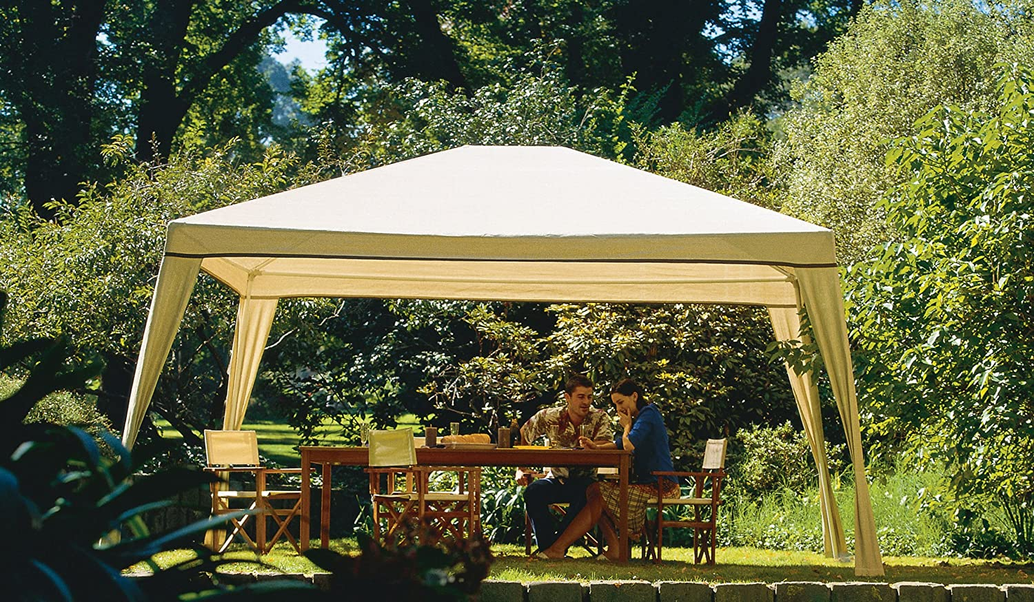 Amazon.com Coolaroo Isabella Steel Post Gazebo 10-Foot by 12-Foot Camel Garden u0026 Outdoor & Amazon.com: Coolaroo Isabella Steel Post Gazebo 10-Foot by 12-Foot ...