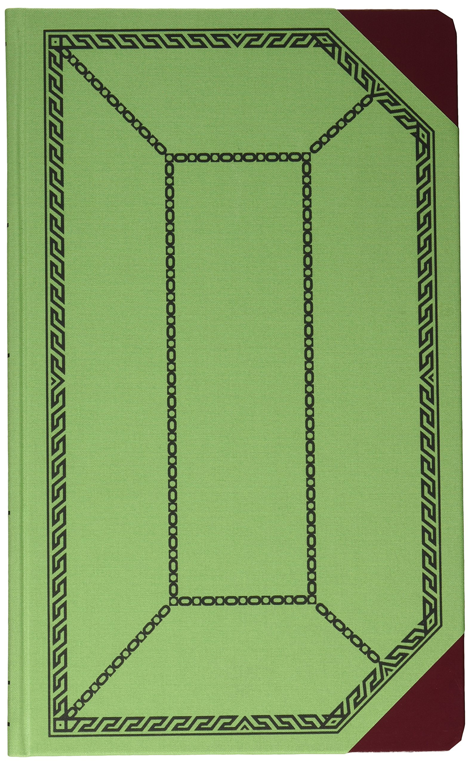 Boorum & Pease 6718150J Record/account book, green/red cover, journal rule, 12-1/2 x 7-5/8, 150 pages