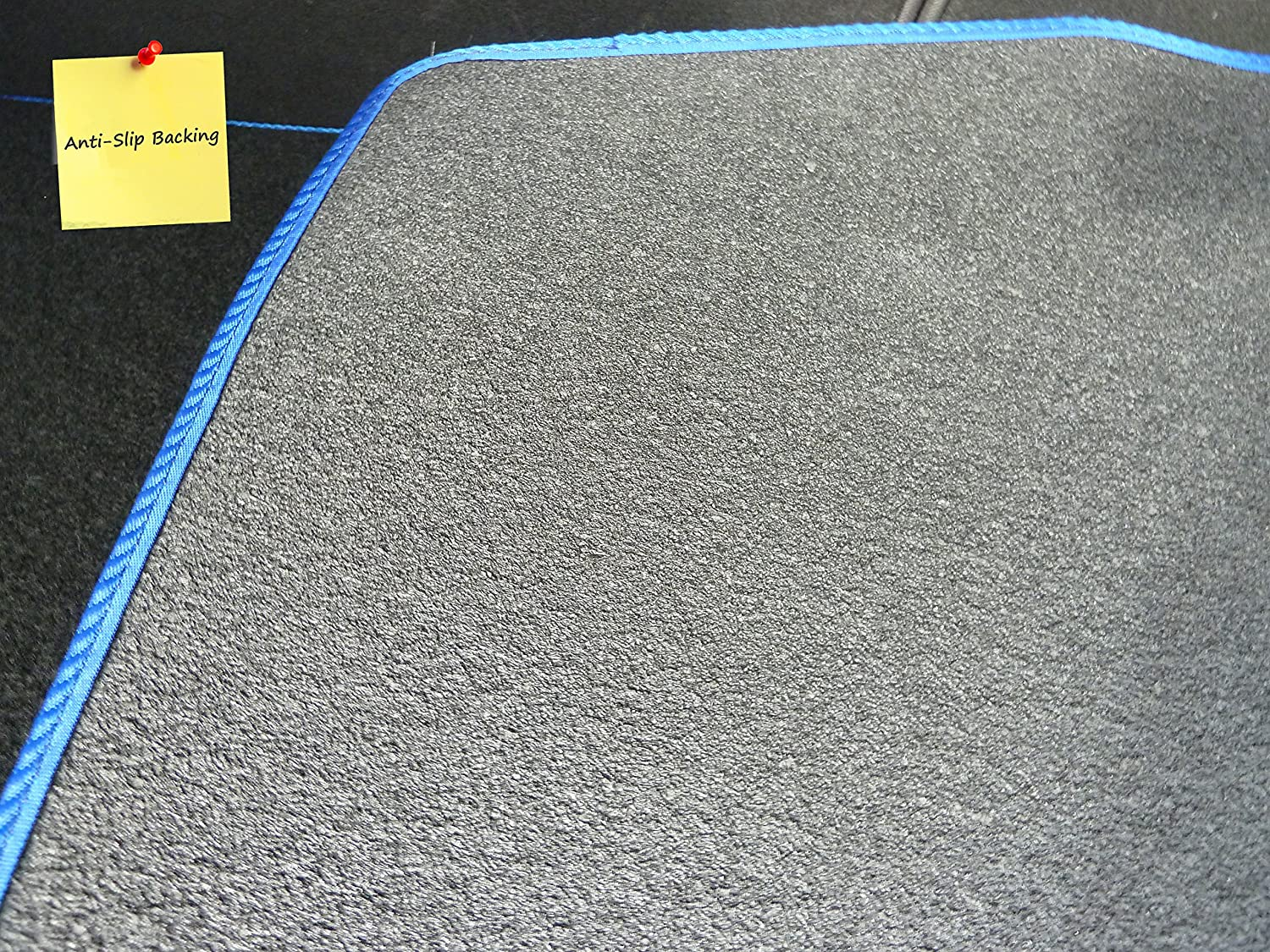Onwards Black with Blue Trim Connected Essentials Tailored Custom Fit Heavy Duty Automotive Carpet Boot Mat Boot Liner for Seat Altea XL 2006