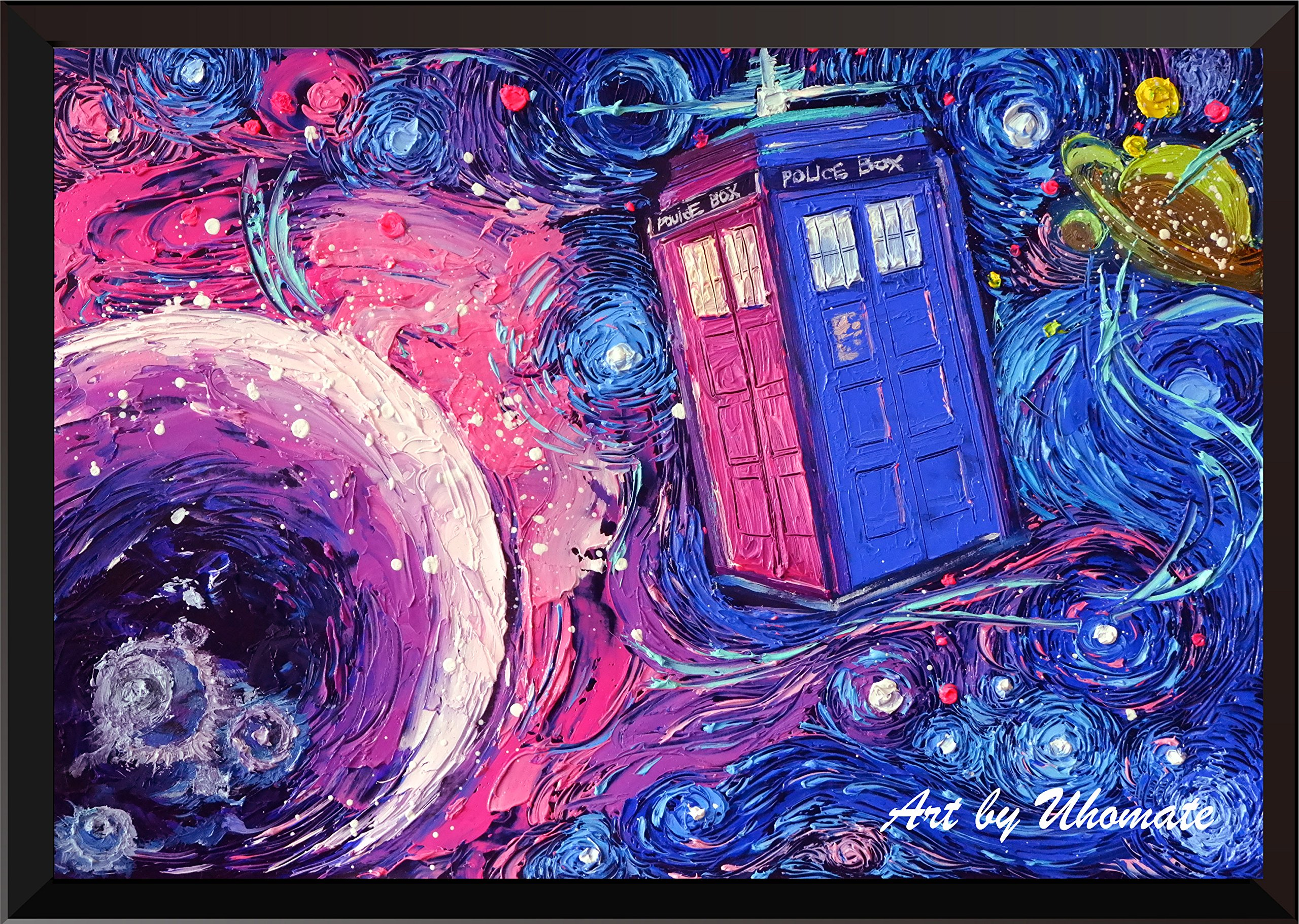 Doctor Who Starry Night Print Tardis Art Print Doctor Who Poster Dr Who Wall Art