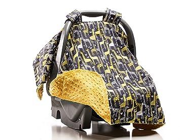 Elonka Nichole Baby Boy Car Seat Canopy Giraffe Love