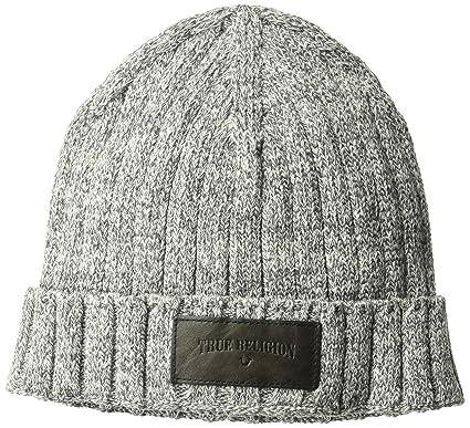 4cd8b1b8 Amazon.com: True Religion Men's Variegated Knit Watchcap, Charcoal ...
