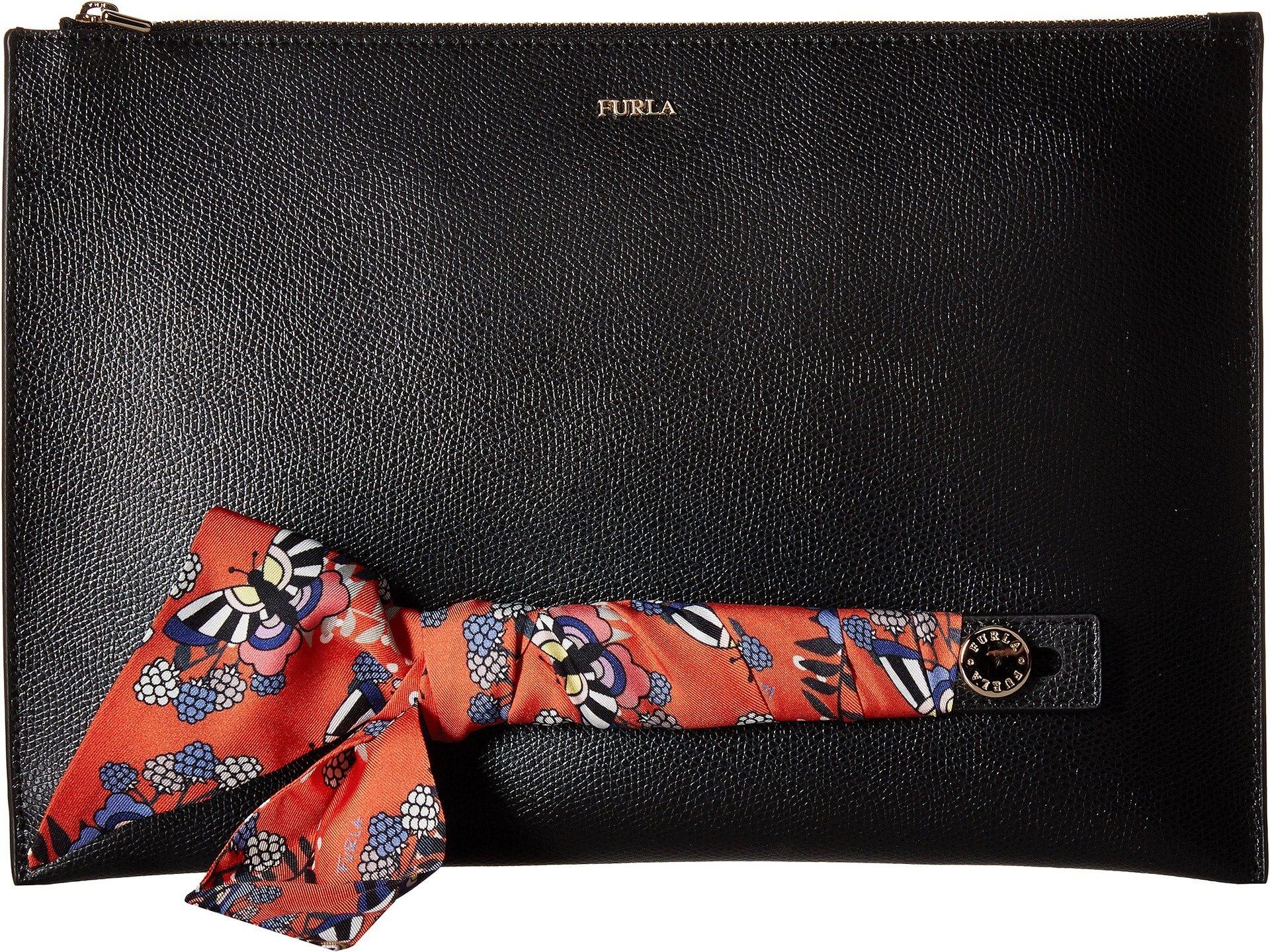 Furla Women's Babylon XL Envelope, Onyx/Toni Mango, One Size