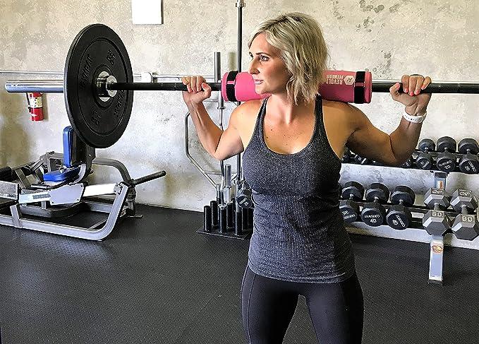 Pesas levantamiento de pesas - Fitness Pad (rosa) para sentadillas, estocadas, cadera Thrust ejercicios con bolsa para el transporte: Amazon.es: Deportes y ...