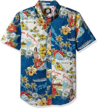 95b4c308 Reyn Spooner Men's Status Oceanic Weekend Wash Tailored Fit Hawaiian Shirt:  Amazon.in: Clothing & Accessories