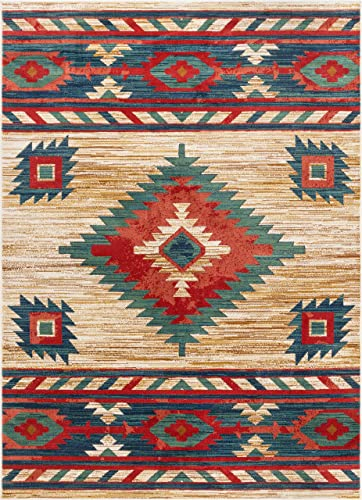 Well Woven Lizette Cream Traditional Medallion Area Rug 9×13 9'3″ x 12'6″