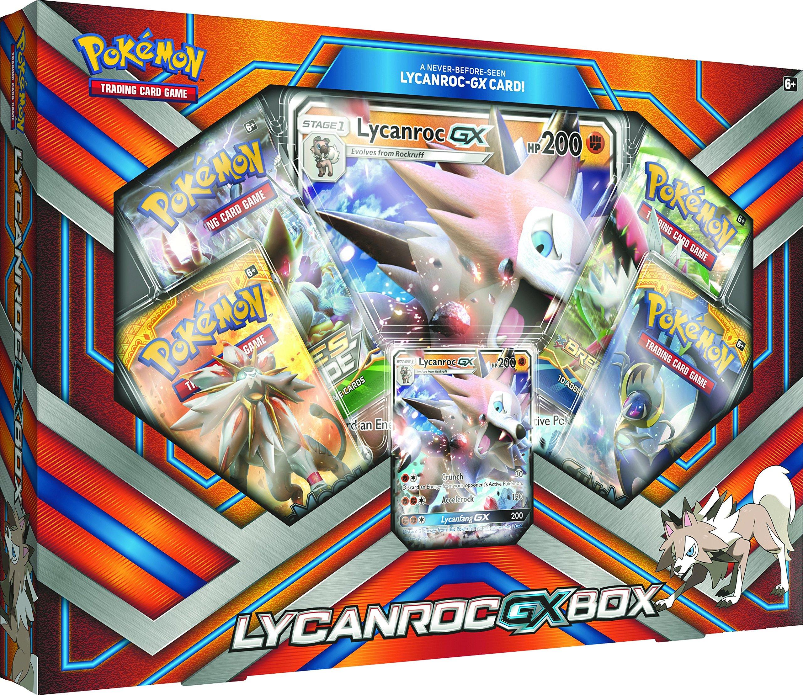Pokemon TCG: 2017 Lycanroc Gx Box with 1 Foil Lycanroc Gx Card by Pokemon