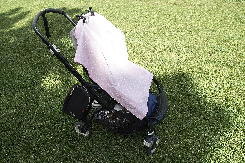 Stilldecken 4er Pack Sonnenvord/ächern schwarz Kinderwagen Klammern Tuch Clip Verschluss Peg f/ür die Befestigung von Decken