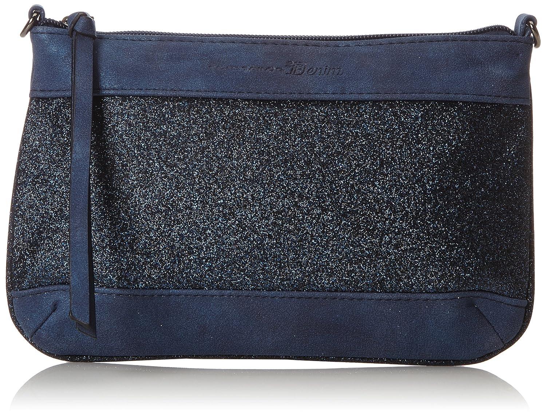 TOM TAILOR Denim Damen Tilda Clutch, 1x16x24 cm (Blau) 1x15.5x24 cm 300313