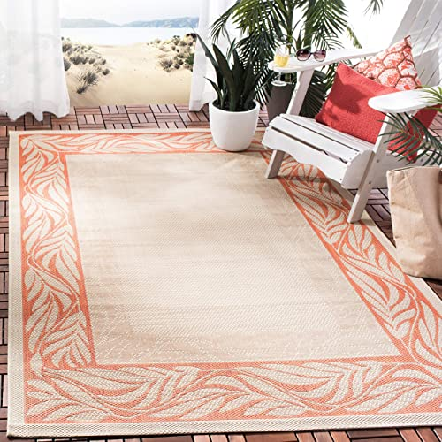 Safavieh Courtyard Collection CY1551-3201 Natural and Terra Indoor Outdoor Area Rug 8 x 11