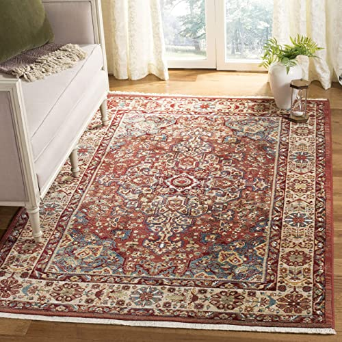 Safavieh Kashan Collection KSN305L Traditional Red and Ivory Area Rug 8 x 10