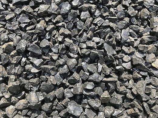 Mármol Grava mármol gravilla Negro 12 – 16 mm estriado Saco de 25 kg Ware Ornamentales Grava Nero ebano: Amazon.es: Jardín