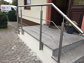 Gelander Edelstahl Aussen Bis 250 Cm Komplett Set Treppengelander