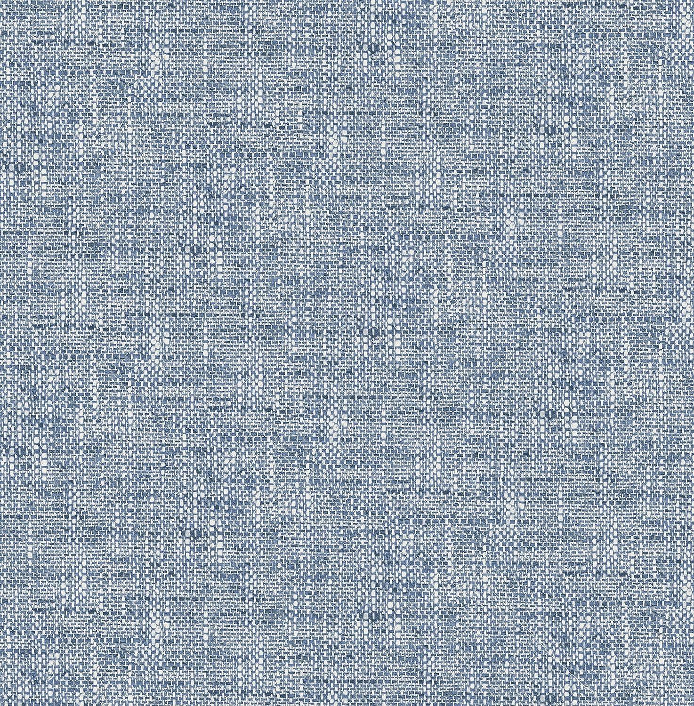 NuWallpaper NU2918 Navy Poplin Texture Peel & Stick Wallpaper