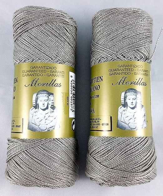 ▷ Pack de 2 Zepelines Ne 5/2 color gris 25 de algodón perlé 100 ...