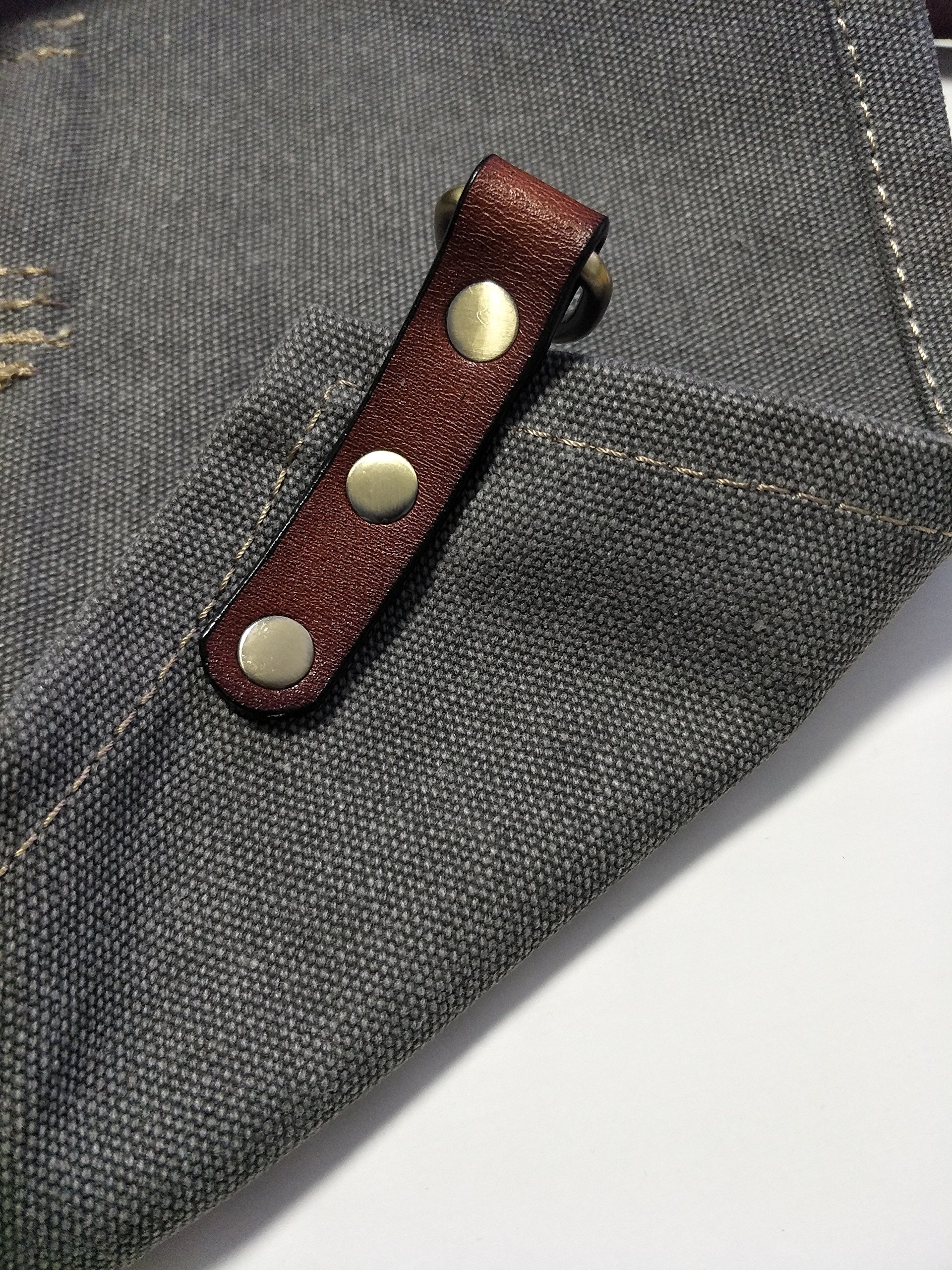 Heavy Duty Gray Waxed Canvas Work Apron With Pockets For Man (31 by 23.62inch)