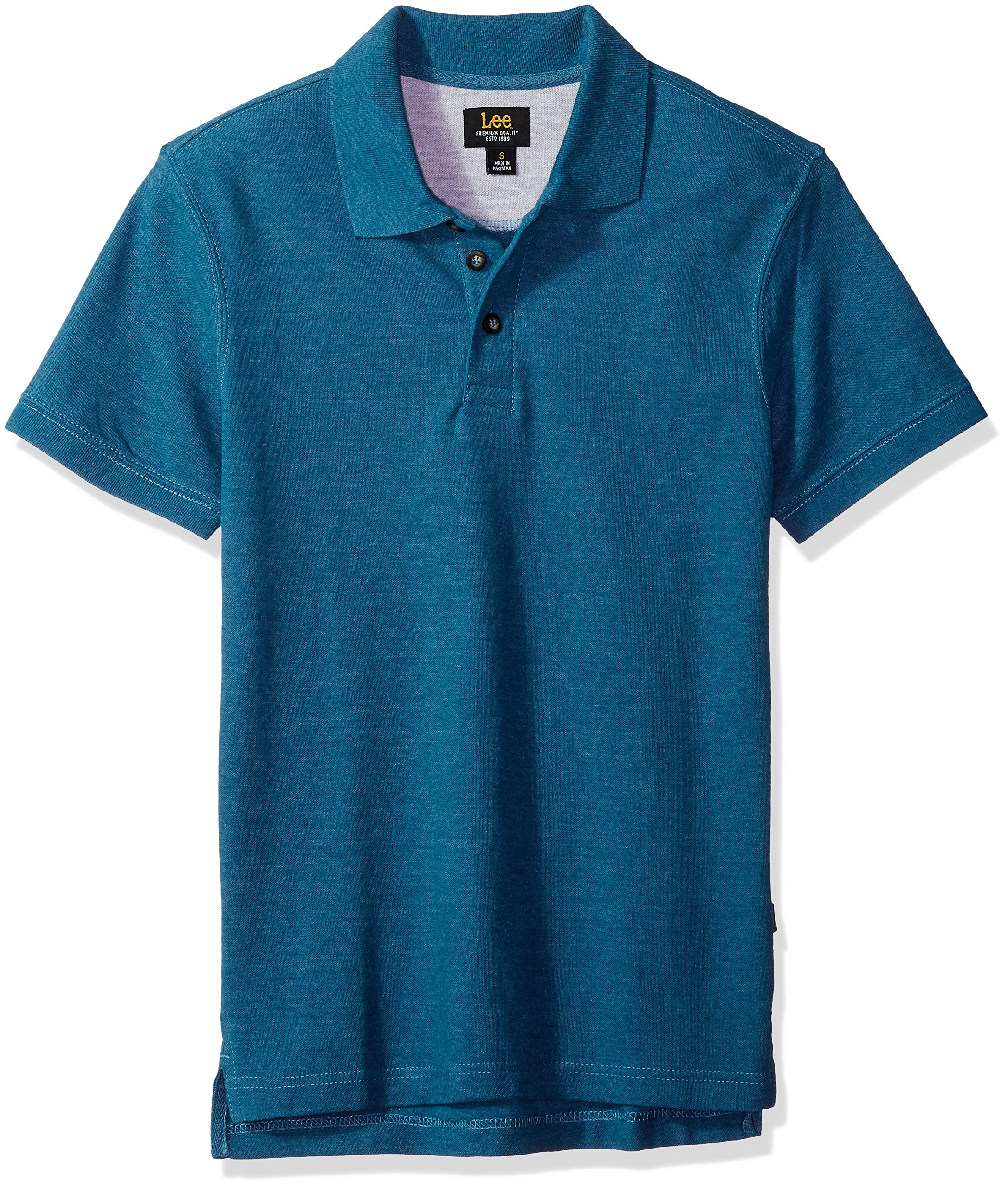 LEE Men's Size Short Sleeve Polo Tee Shirt, Moroccan Blue, 4XL Tall