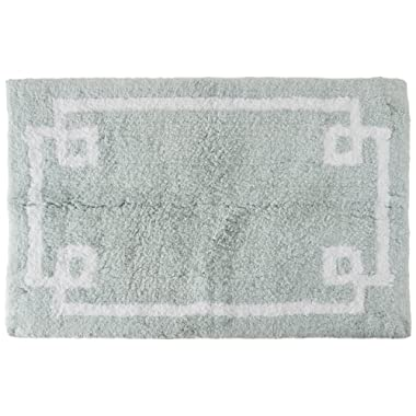 Madison Park Evan Cotton Tufted Washable Bath Mat, Luxury Solid Bathroom Rugs, 20X30, Seafoam