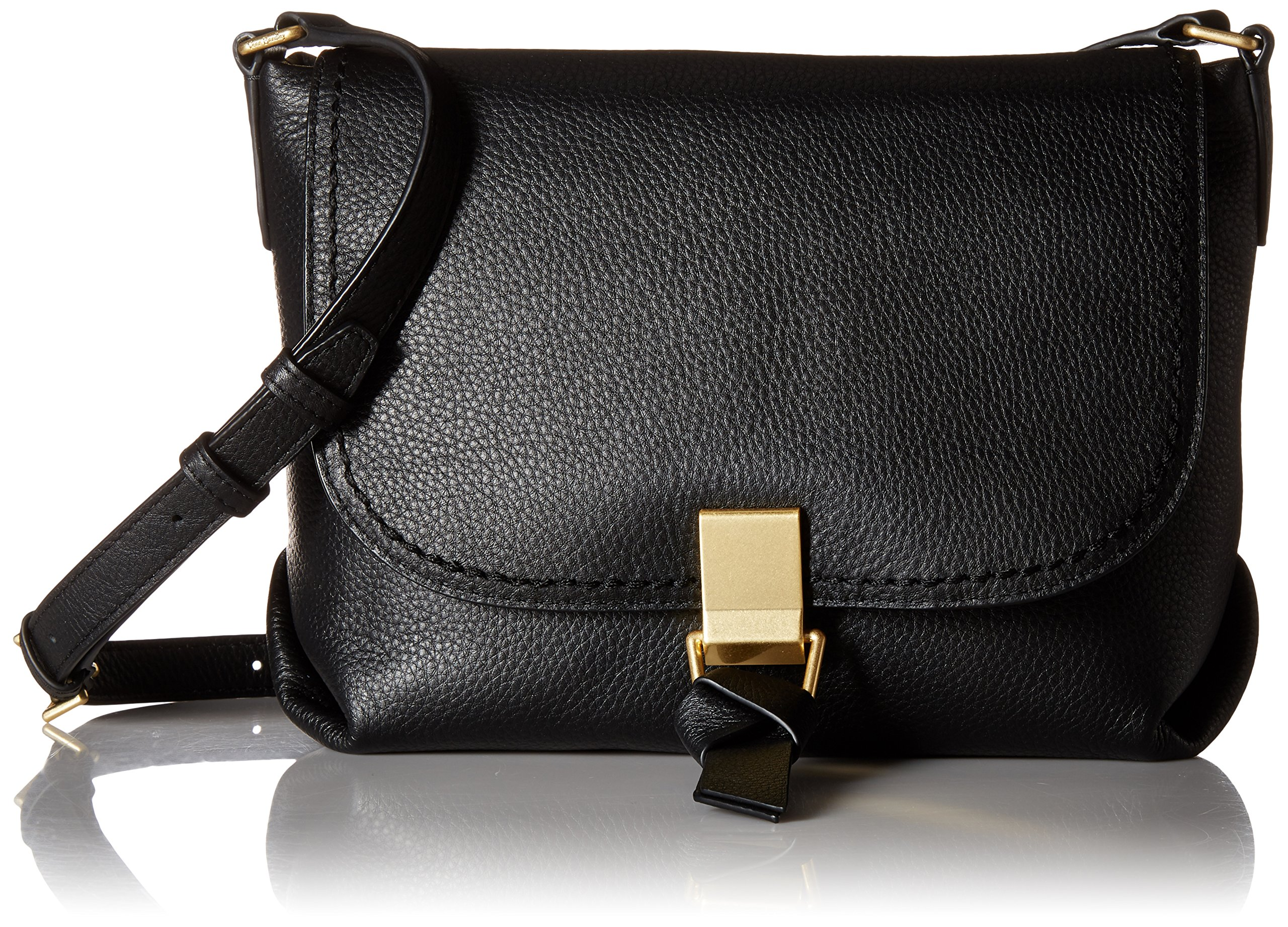 Vera Bradley Carson Crossbody, Leather, Black