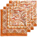 Maison d' Hermine Palatial Paisley 100% Cotton Set of 4 Napkins 20 Inch by 20 Inch. Perfect for Thanksgiving and Christmas