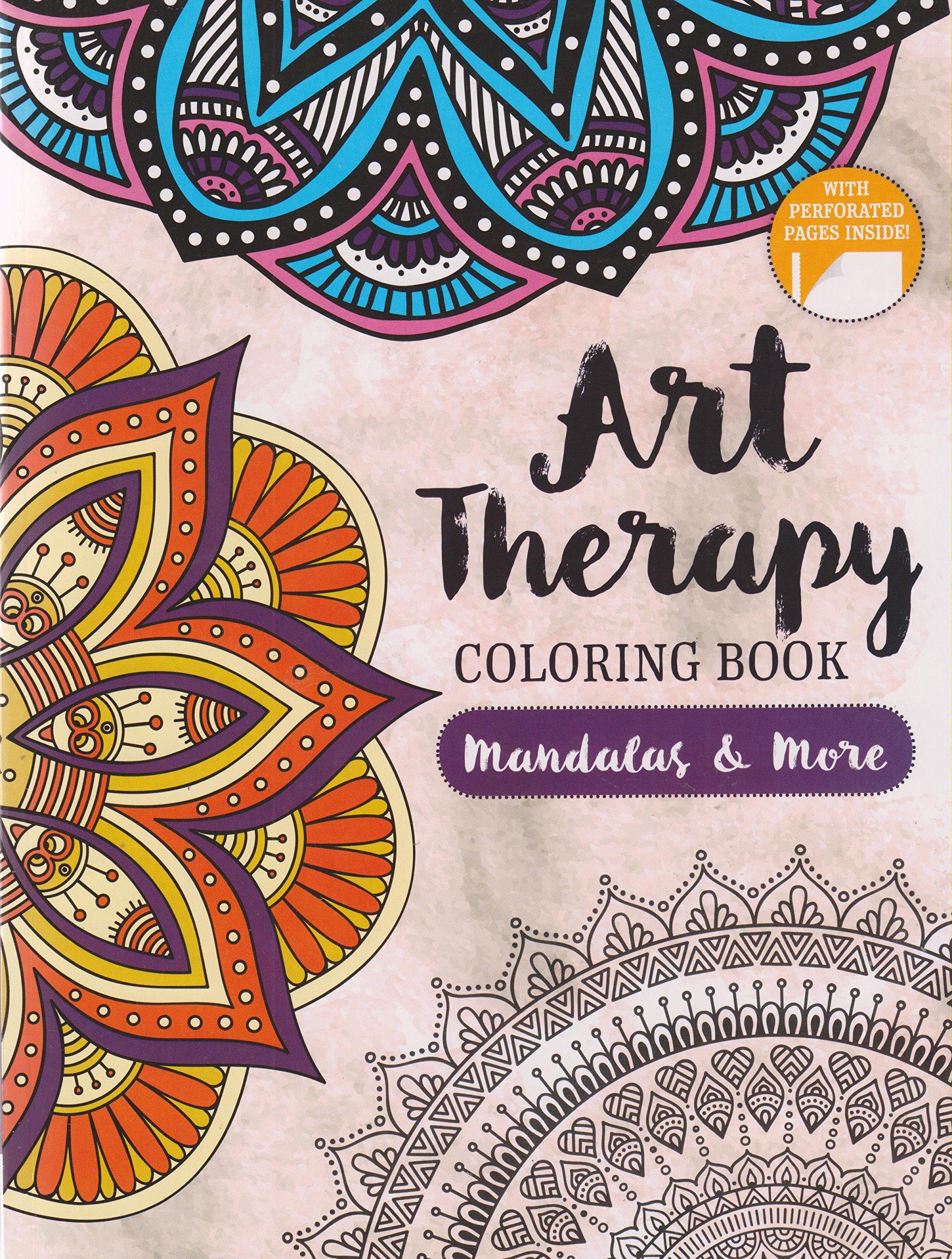 Art Therapy Coloring Book Mandalas More Amazon Books