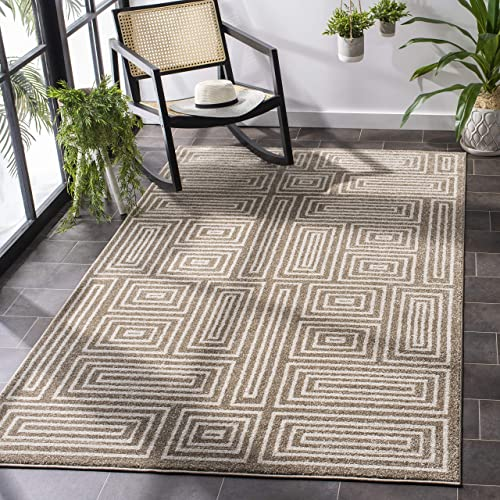 Safavieh Amherst Collection AMT430S Mid-Century Modern Non-Shedding Stain Resistant Living Room Bedroom Area Rug