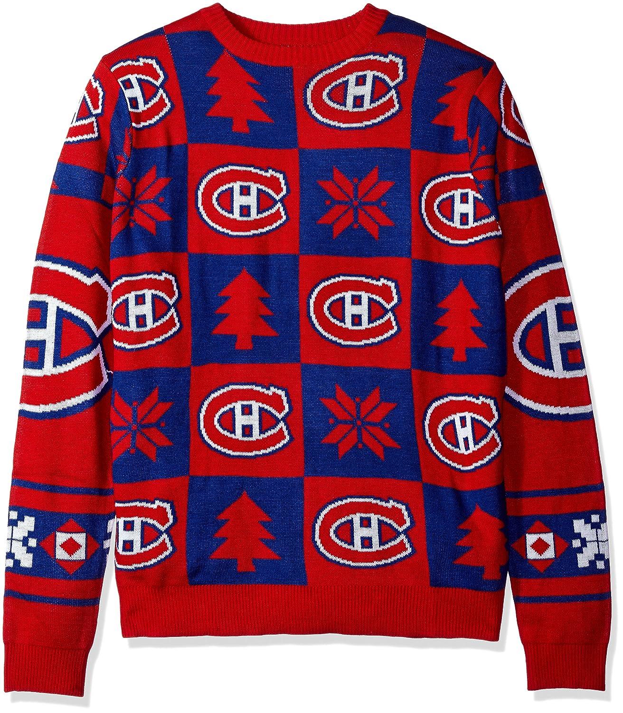 Amazon.com   FOCO NHL Mens 2016 Patches Ugly Crew Neck Sweater   Sports    Outdoors cbf3a7e04