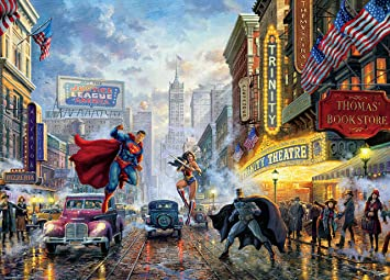 Thomas Kinkade - DC Comics - The Trinity Puzzle - 1000 Pieces