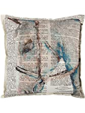 Rizzy Home Decorative Filled Pillow Mariah Parris Horse Cotton Decorative Pillow, 20