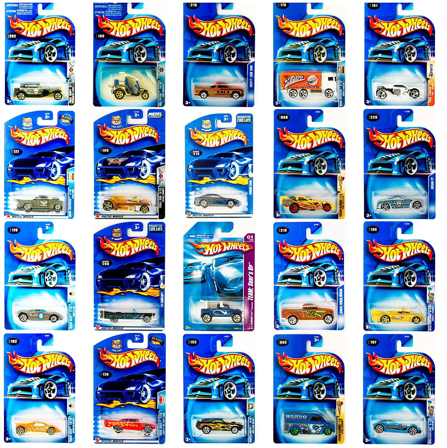 Hot Wheels Die Cast Vehicle Bundle of 4 Styles May Vary