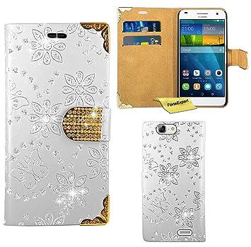 Huawei Ascend G7 Funda, FoneExpert® Diamante Bling Wallet ...