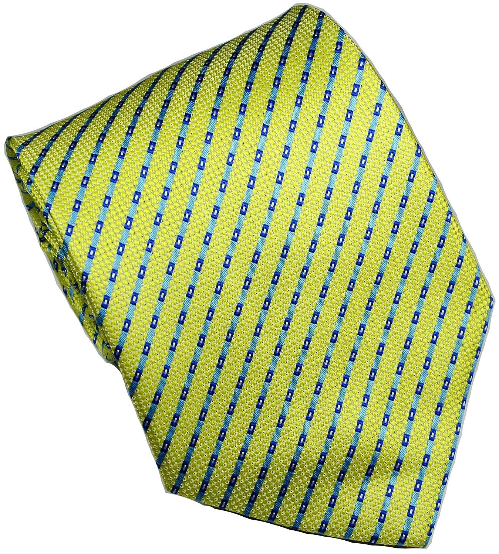 Towergem Corbata extra larga para hombre tejido jacquard color azul marino y verde