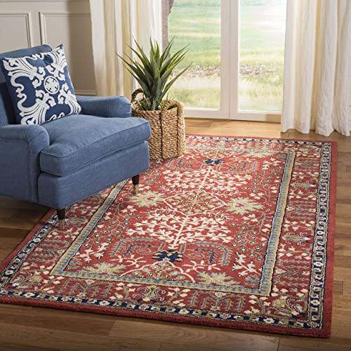 Safavieh Antiquities Collection AT64A Handmade Traditional Red and Multi Area Rug 3 x 5
