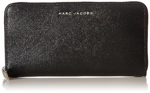 b2ca94c5d Marc Jacobs - Tricolor Standard Continental, Carteras Mujer, Black, 3x10x20  cm (W