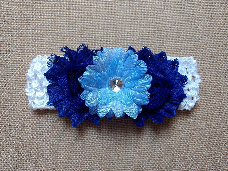 Amazon Flower Headband For Baby Girls Royal Blue Shabby Infant