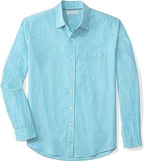 377d98a9cc Amazon.com  Amazon Essentials Men s Regular-Fit Long-Sleeve Solid ...