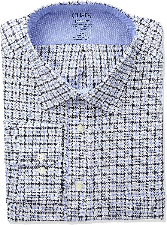 Chaps Mens Regular-Fit Stretch Collar Wrinkle-Free Dress Shirt Purple 16 Neck 34//35 Sleeves